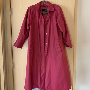 London Fog Pink Trench Coat with Liner 12
